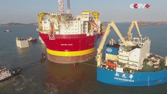 中国海上巨无霸,每天处理4万桶油