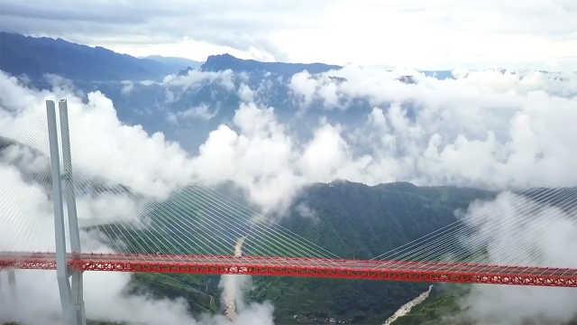 世界最高大桥:杭瑞高速北盘江大桥