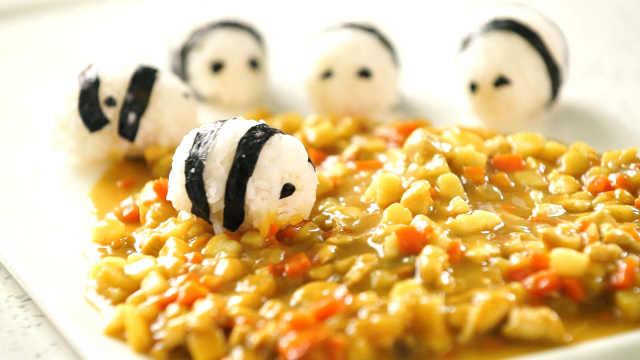 咖喱熊猫,一道萌翻你的菜