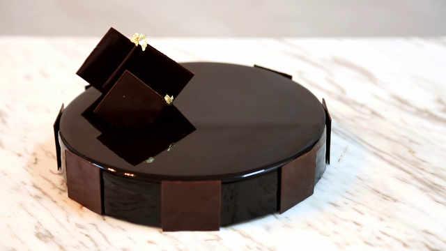 巧克力甘那许蛋糕,满满都是技术点