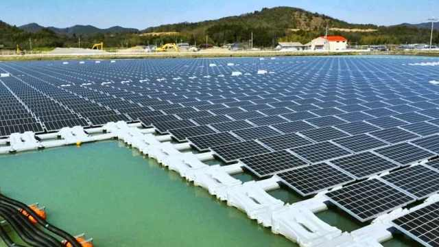 中国造全球最大水上发电站