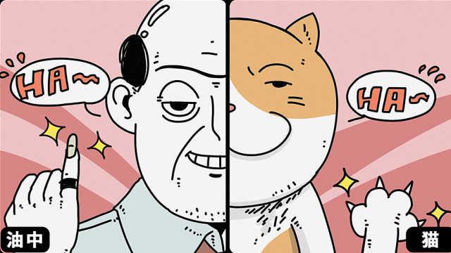 猫与中年油腻男人相似度达到85%!