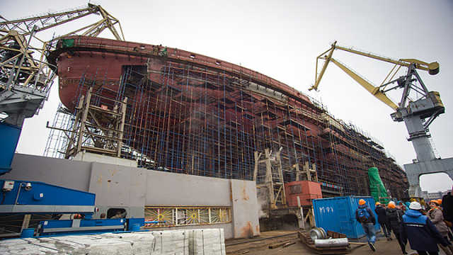 中国核动力上俄罗斯4万吨巨舰