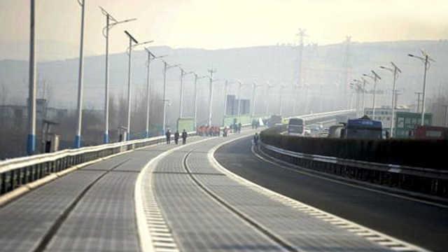 全球首段光伏高速公路即将通车