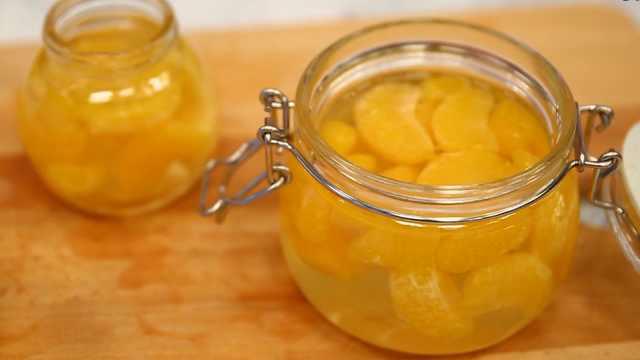 自制橘子罐头,连糖水都要吃光光