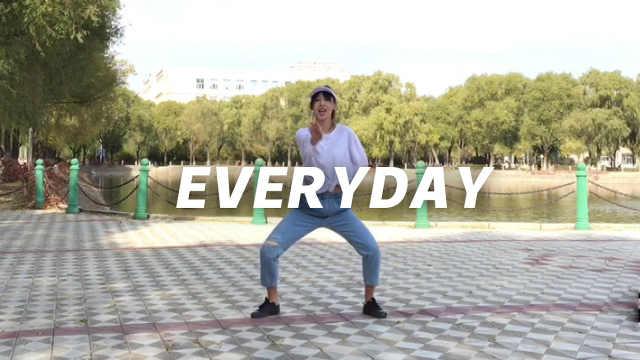 牛仔白T美女活力翻跳《everyday》