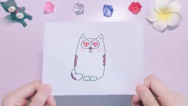 手绘:猫咪也会犯花痴
