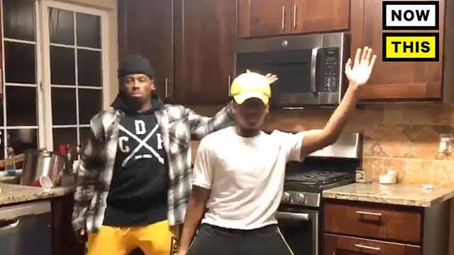 两个黑人小哥厨房尬舞效果超赞