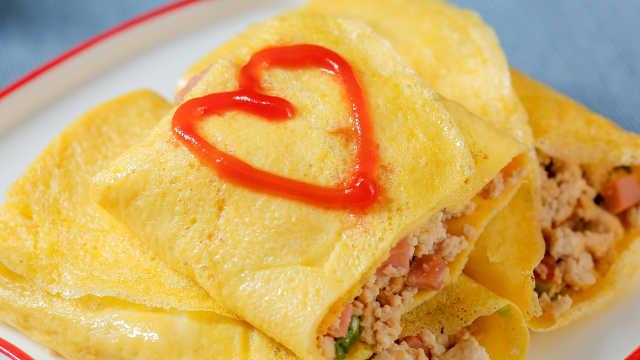 豆腐包在鸡蛋里这样做,好吃到飞起
