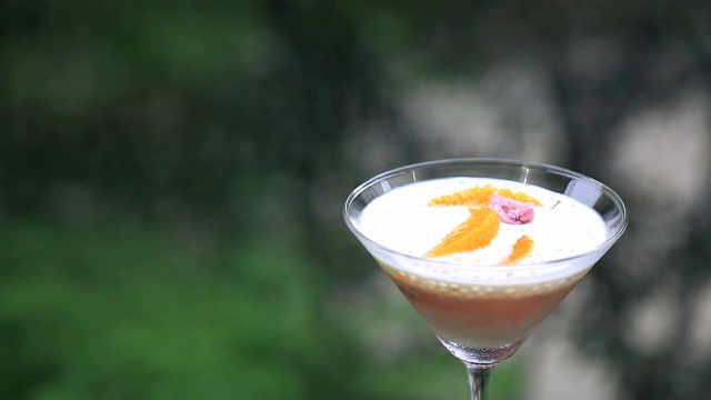 西米蜜橙樱花冻:去果皮的赤橙攻略