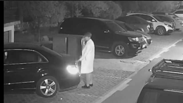 男子深夜拉車門盜竊,24小時后被抓