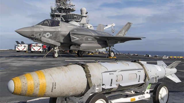 美国F35带核弹巡航东海