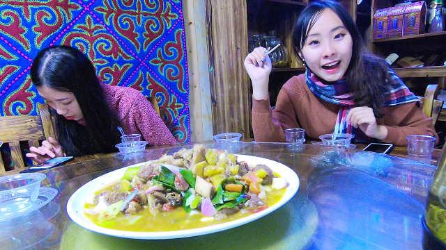 新疆农家乐:羊肉一点不骚,超大份