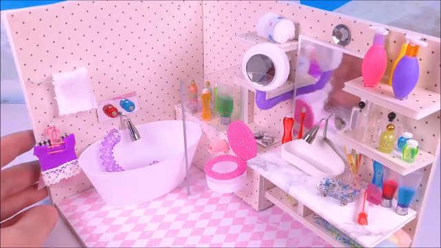 DIY迷你娃娃屋浴室