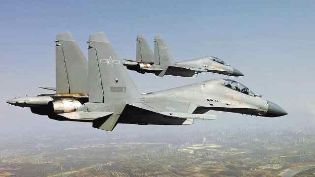 中国空军拉出全部家当演练空中扫荡