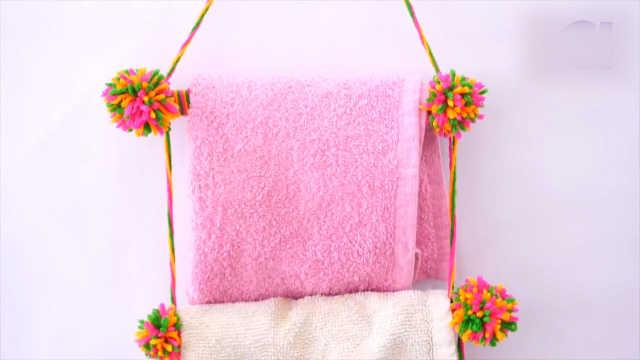 旧牙刷再生计划:做成毛巾架