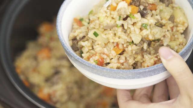 轻脂糙米饭,美味零负担!