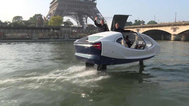 新型节能环保水上出租车现身巴黎