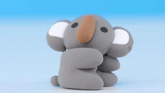 亲子手工——考拉丨黏土DIY