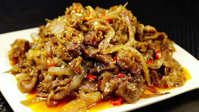自制孜然羊肉片,简单易学超美味