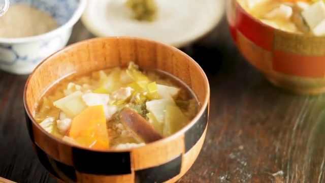 三分钟学会日式味增汤,营养又美味