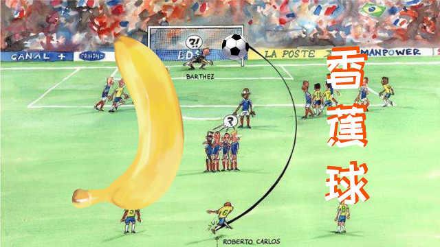 香蕉球是怎么踢出来的?