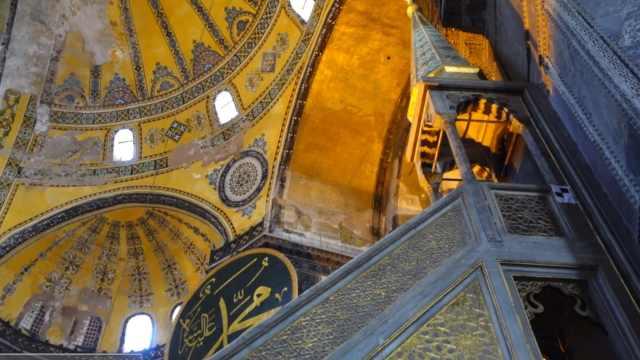 在土耳其看壮观的圣索菲亚大教堂