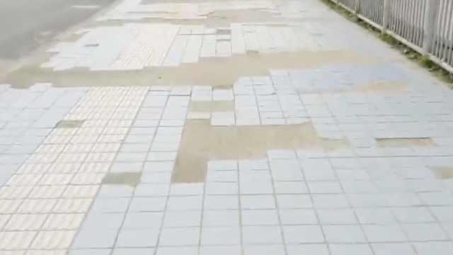 郑州一桥梁人行道20米内百余处损伤