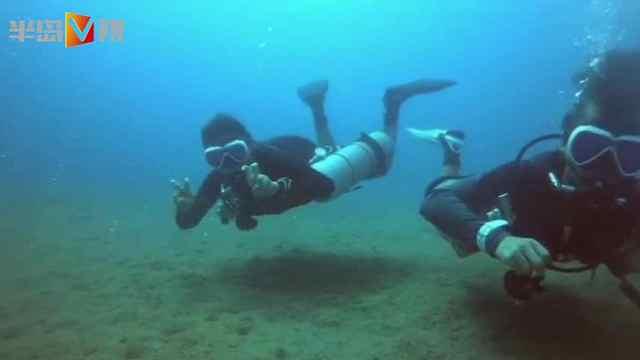 跟潜水达人海底纳凉