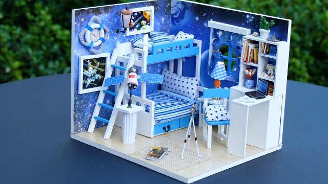 DIY迷你娃娃屋,天文爱好者的风格
