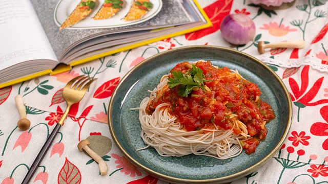 酸甜的酸香番茄面,吃这个才爽快!