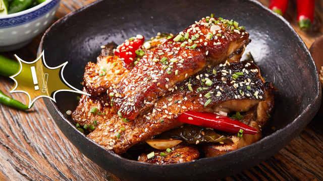 烧草鱼的一个好方法,干香又入味!