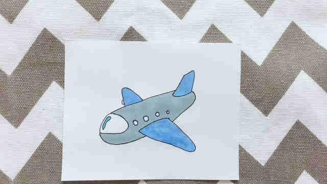 domi一分钟教你手绘可爱小飞机!