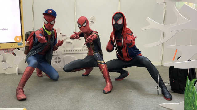 3小伙cos蜘蛛侠:能力越大责任越大