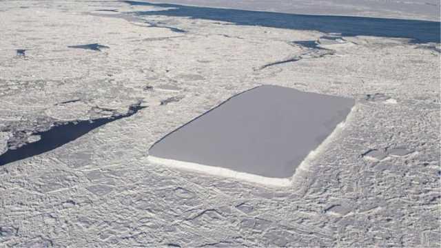南极这座冰山为什么刀切一样光滑?