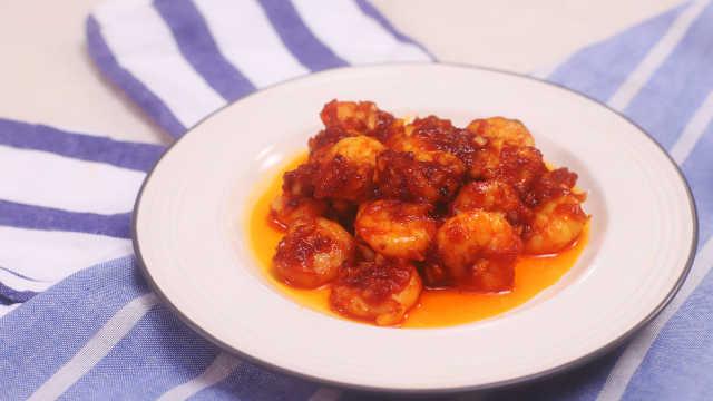 酸甜可口的茄汁大虾,开胃又下饭!