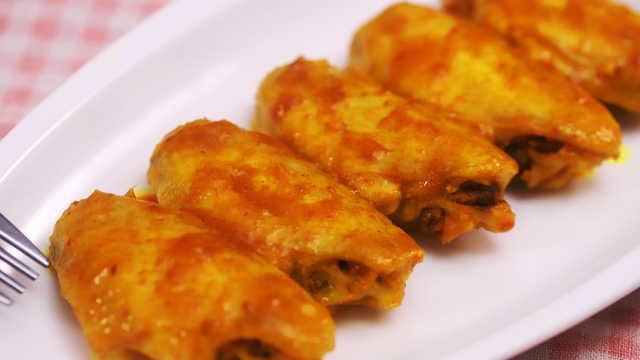 用咖喱雞翅招待朋友,好吃又好看!