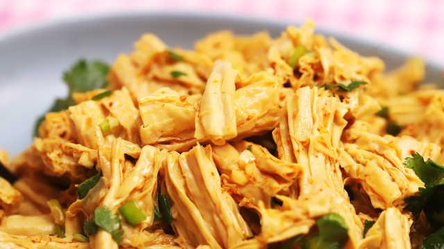 麻辣酸爽的涼拌腐竹,就愛這味道!