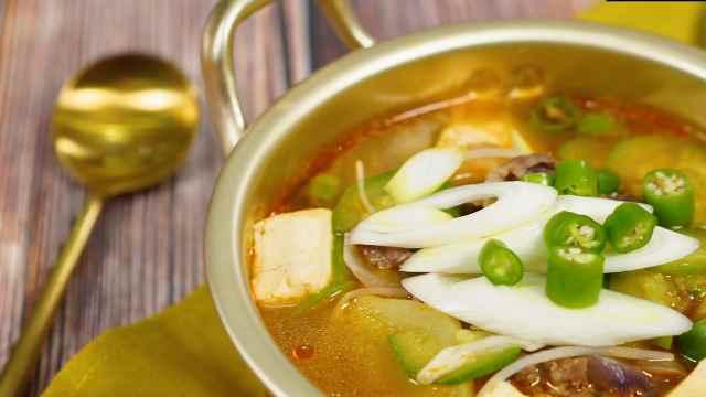 韩式大酱汤特别下饭,简单做美食