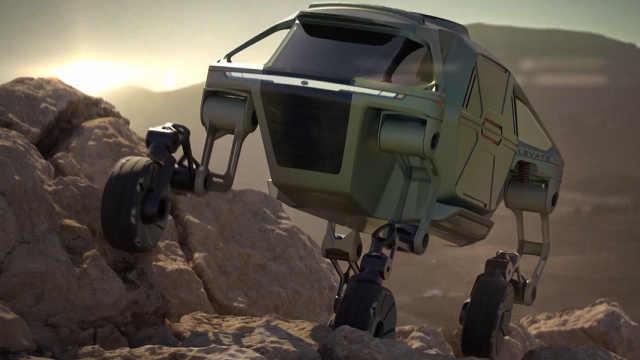 可以行走和攀爬的概念车