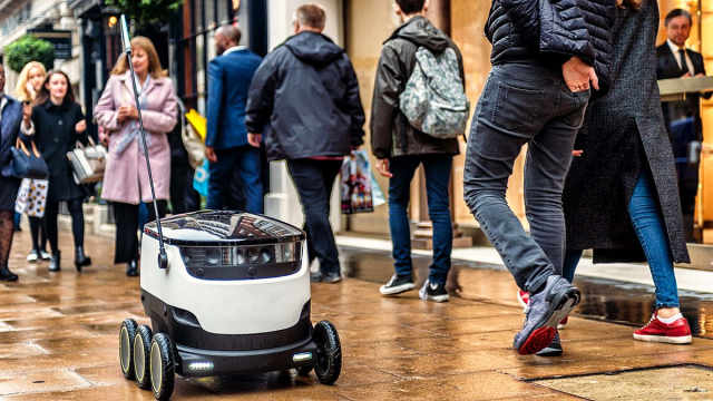 外卖行业大变革!送餐机器人来了