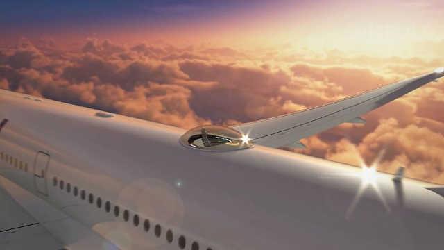 """航空公司推出""""全透明观景舱""""服务"""