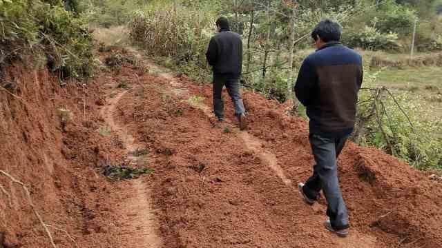赣县区村民私修道路破坏山林与农田