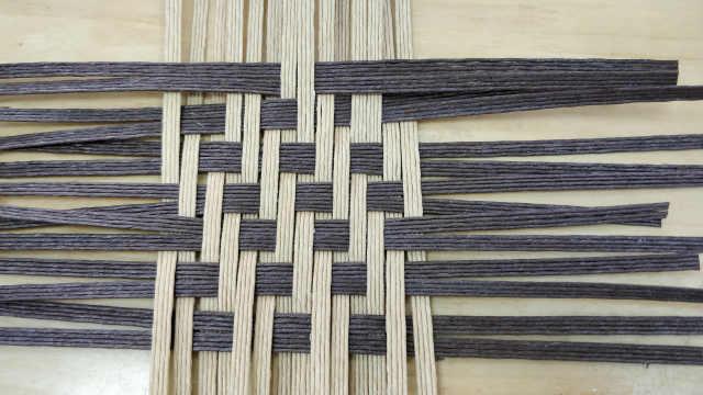 竹编基础编织教程斜纹编织法