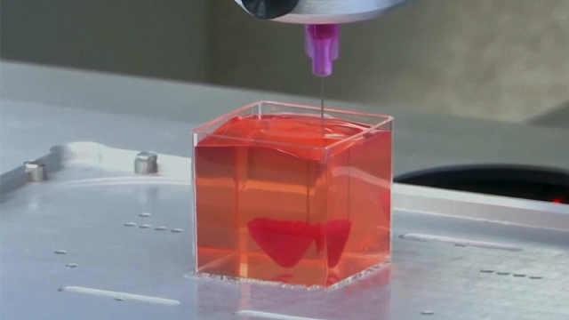 以色列研究出会跳动的3D打印心脏!