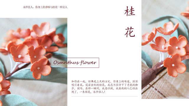桂花胸针:古风花卉胸针,清新优雅
