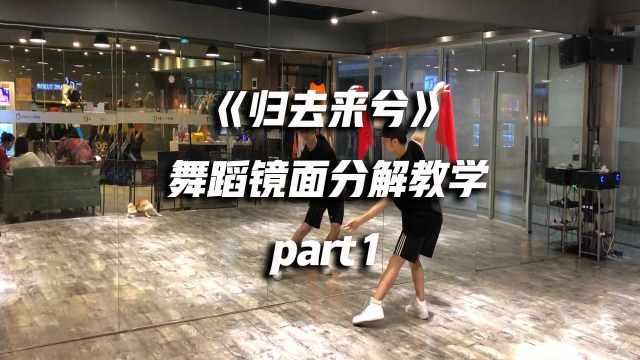 《归去来兮》舞蹈镜面分解教学p1