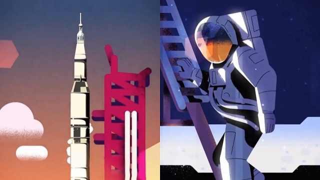 人类登月50年,谷歌动画片重现历史
