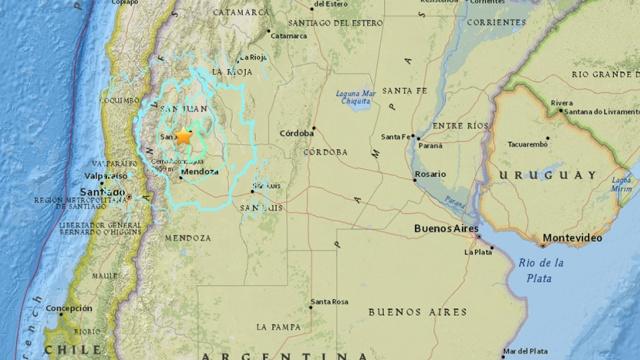 阿根廷发生6.4级地震,暂无人伤亡