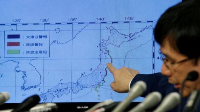 日本福岛7.4级地震,海啸警报解除